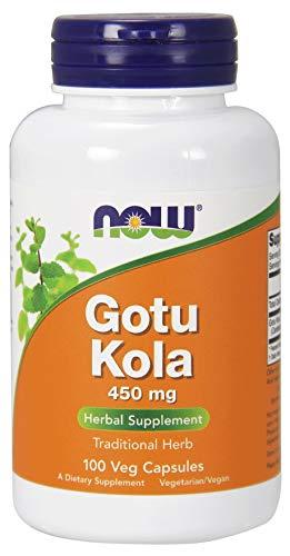 Now Foods Gotu Kola Pflanzenextrakt 450mg Asiatischer Wassernabel 100 Kapseln