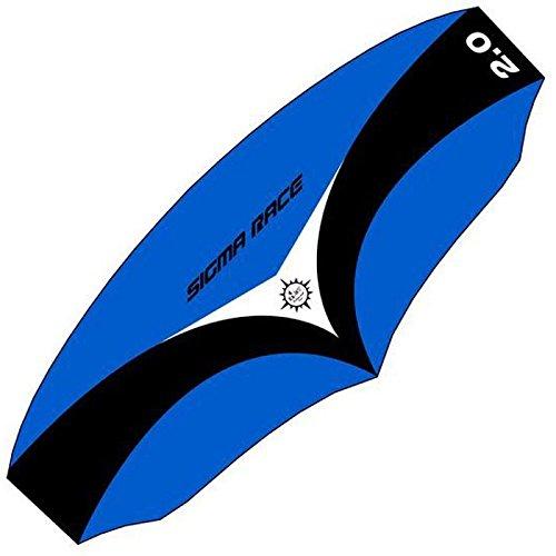 elliot 1010705 Elliot Sigma Race 2.0 Dreileiner-Lenkdrachen (Lenkmatte), rtf, inkl. Controlbar, 258 x 103 cm, schwarz/weiß/blau