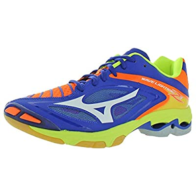 Mizuno Mens Wave Lightning Z3 Lace-Up Volleyball Shoes Blue 13 Medium (D)