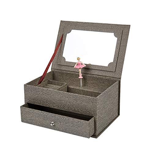 Earthily Caja de música Chica Caja De Joyería Caja De Almacenamiento Reloj De Música Caja De Regalo De Papel Caja De Papel Joyas De Joyería. (Color : A)