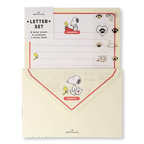 日本ホールマーク スヌーピー レターセット シール・ホワイト お手紙 771-645