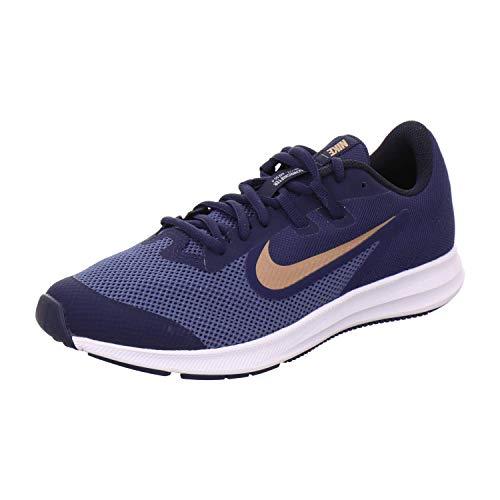 Nike Downshifter 9, Scarpe da Campo e da Pista Unisex-Bambini, Multicolore, Blu (Midnight Navy), Rosso Bronzo Metallizzato, 403, 38 EU