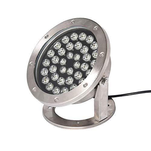 BABYCOW 24W Impermeable IP68 Luz subacuática LED RGB Cambio de Color Colorido Foco Control de Fuente Proyección de Piscina subacuática Lámpara al Aire Libre Paisaje Seguro Estanque Pesca Luces de PU
