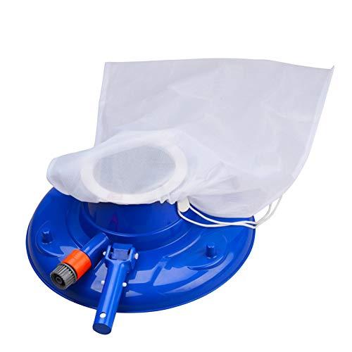 Cabezal de aspiración de piscina con bolsa de cordón Cepillo de limpieza flexible para piscina Aspiradora de hojas de piscina Herramientas de limpieza de superficie de piscina Elimina escombros