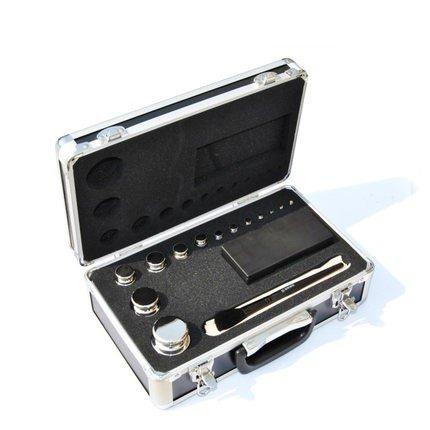 CGOLDENWALL M1 Class 304 - Juego de pesas de calibración digital de acero inoxidable (11 unidades, 1 mg-1 kg)