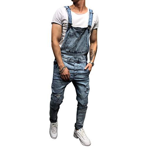 Salopette da uomo, jeans lunghi, pantaloni da lavoro, pantaloni da lavoro per uomini e ragazzi #731 azzurro XL