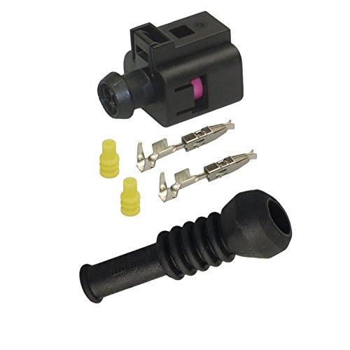 Reparatursatz Stecker 2-polig Buchse OEM 1J0 973 702 1J0973702 mit Gummitülle 6N0 906 102