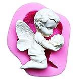 Stampo in Silicone - Fondenti - Angelo - Muffin - Rosa - Hobby - Bambino - Pasta di Zucchero - Idea regalo originale - Torte - Cucina - Pancake - Utilizzo alimentare - Fai da te - DIY - Decorazioni