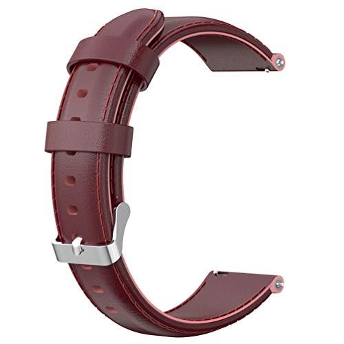 iplusmile Pulseira de relógio de couro de 22 mm, pulseira de couro premium para homens e mulheres compatível com Fossil geração 4