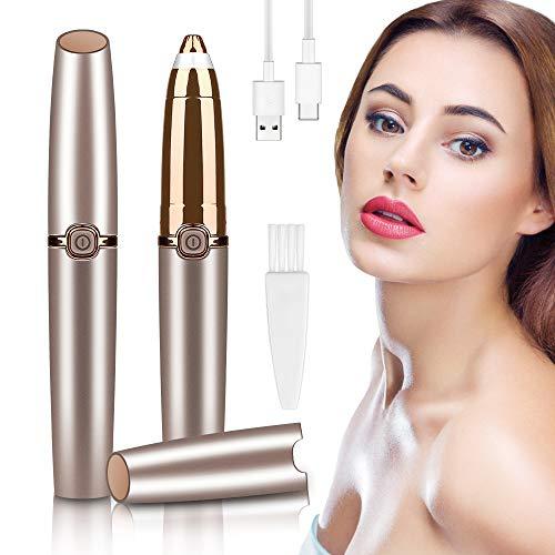 Augenbrauen Rasier, Schmerzloses Augenbrauen Trimmer Frauen, Flawless Brows Augenbrauenrasierer Elektrisch Eyebrow Razor, Inklusive USB-Ladekabel