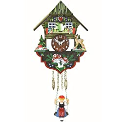Trenkle Kuckulino Black Forest Clock Black Forest House with Quartz Movement and Cuckoo Chime TU 2004 SQ