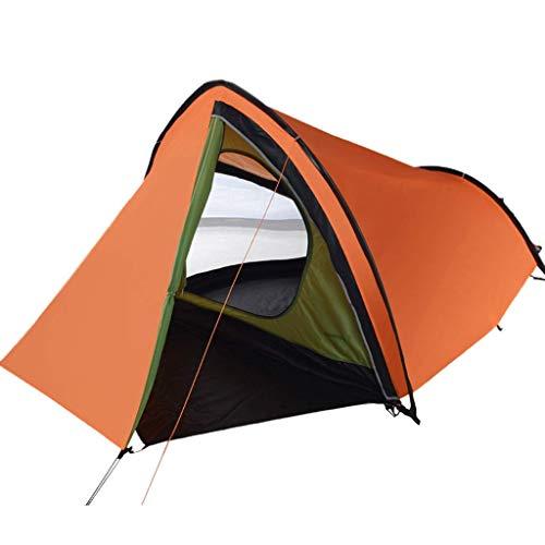 XUSHEN-HU Protector solar impermeable al aire libre, dos habitaciones, 1-2 personas, tienda de campaña en el pie, tienda de campaña (color: naranja)