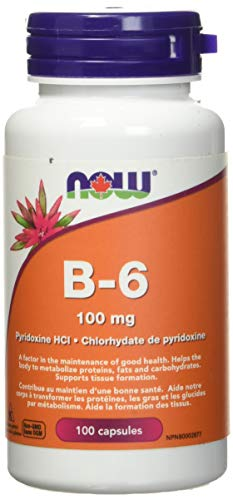 Now B-6 100mg Capsules, 100 Count