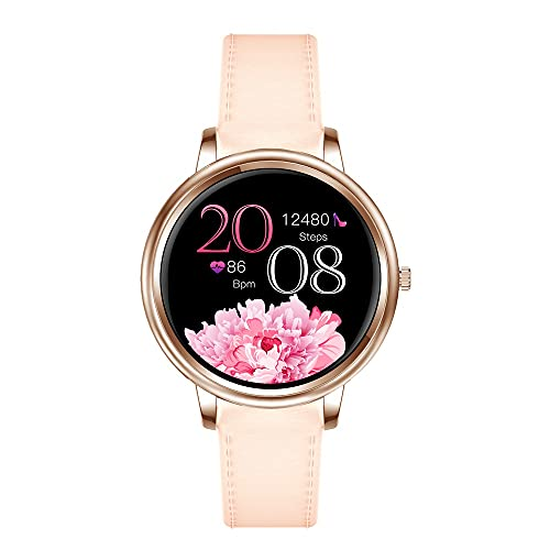 KaiLangDe Smartwatch Reloj Inteligente con Pulsómetro Cronómetros Calorías Monitor de Sueño Podómetro Monitores de Actividad Impermeable Reloj Deportivo para Android iOS Pulsera (Color : Pink Belt)