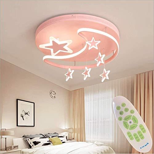 QYYDJsgl Deckenleuchte Kinderzimmer Lampen Minimalistisch Modern Kreativ Warm Und Lovely Cartoon Mädchen LED Schlafzimmer Lichter Die Sterne Hängelampen