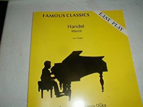 Easy Play, Handel March from Scipio. Arranged by Henry Duke. Fenone F.C. 505
