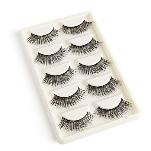 False Eyelashes 50 Pairs Eyelashes Natural Mink Eyelashes False Eye Lashes 3D Mink Lashes Extensions maquiagem Faux cils - (Color: Y5-5)