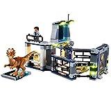 QZPM (Fuga De Stygimoloch De Jurassic World) Modelo De Construcción De Bloques Conjunto De Luces Kit De Luz LED Compatible con Lego 75927 (NO Incluido En El Modelo)