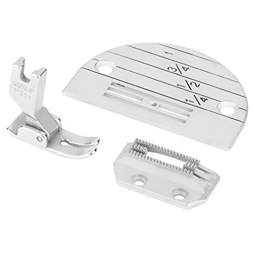 N-brand Accesorios para máquinas de Coser industriales Juego de prensatelas con placa de aguja - 3 piezas