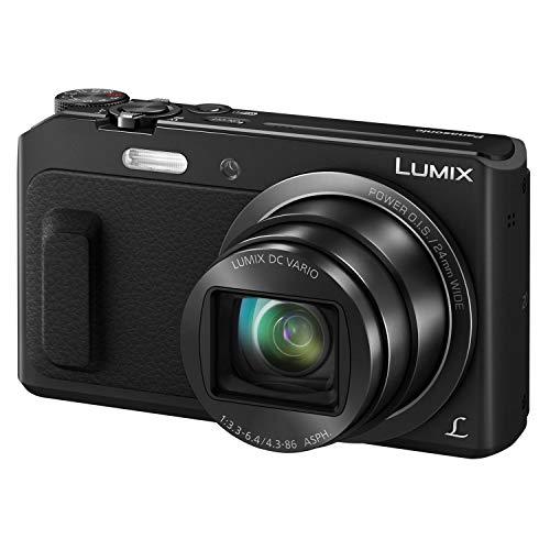 Panasonic Lumix Appareil Photo Compact Zoom Puissant DMC-TZ57EF-K (Capteur 16MP, Zoom Lumix 20x F3.3-6.4, Ecran Inclinable, Vidéo Full HD, Modes Selfies, Stabilisé) Noir – Version Française