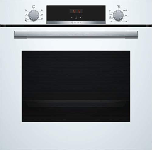 Bosch HBA533BW1 Serie 4 Einbau-Backofen / A / 71 L / Weiß / Klapptür / LED-Display / 5 Beheizungsarten / EcoClean Direct / 3D Heißluft