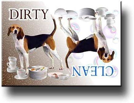 LANDSEER Clean//Dirty DISHWASHER MAGNET Must See DOG