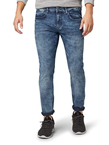 TOM TAILOR Herren Jeanshosen Troy Slim Jeans mid Stone wash Denim,38/32