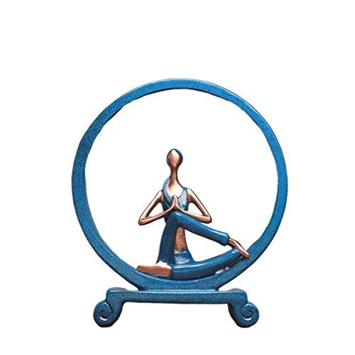 yunyu Harz Yoga Mädchen Figuren Yoga Gottheit Statuen Skulpturen Tisch Ornament für Moderne Home Desktop Dekoration (Pray), Skulptur Ornamente