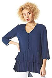 Add a hint of ladylike luxury to both your 9-5 and after hours looks with this tiered tunic.The tiered trim on this blouse gives a swishy feel that's oh-so flattering. This top features a button fastening and permanent pleats for a lasting effect.The...