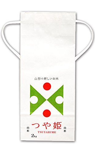 マルタカ 白クラフト 山形つや姫 TSUYAHIME2 2kg用紐付 20枚セット KH-0603