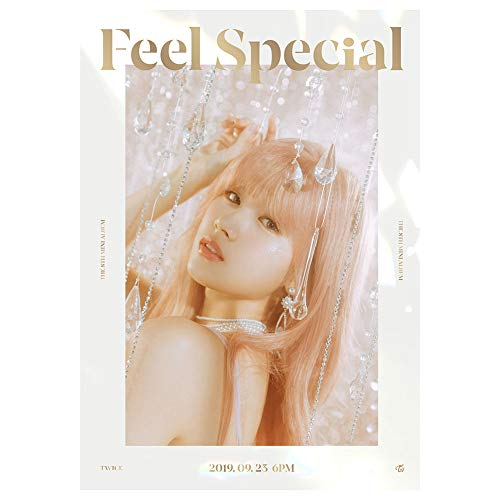 GOTH Perhk KPOP TWICE Neues 8th Mini Album [Feel Specia] Poster Offizielles unterstütztes Poster für die TWICE Fans Collection, 16.53 × 11.69IN(H07)