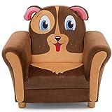 Delta Children Cozy Children's Chair - Fun Animal Character, Brown Puppy