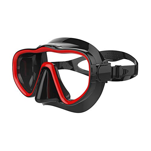Crewell Erwachsene Schwimmbrille Crystal Clear Weitsicht Taucherbrille Schnorchelmaske rot