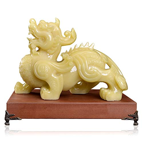 Wealth Lucky Figurine Feng Shui Wealth Prosperity Pi Xiu/Pi Yao Statue Attract Wealth and Good Luck,Feng Shui Decor Feng Shui Statue