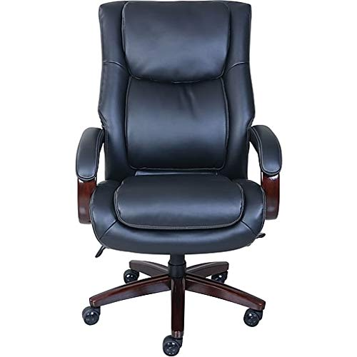 La-Z-Boy Winston Leather Executive Office Chair, Fixed Arms (Black)