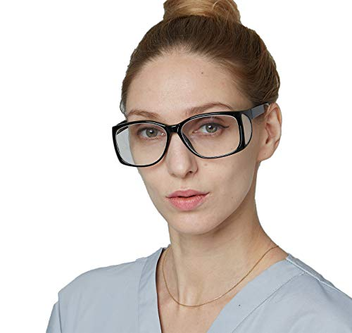 Leaded Glasses Radiation Protective Eyewear with Retention Strap