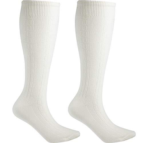 Blulu Lange Bestickte Deutsche Lederhosen Socken Bayerische Socken für Traditionelle Oktoberfest Outfit Trachten (L)