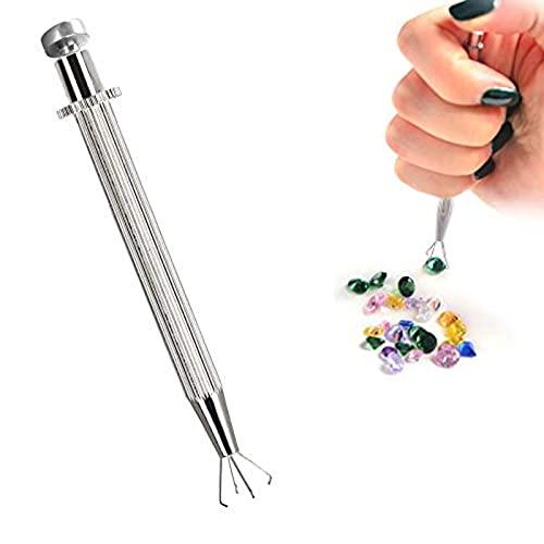 Herramienta profesional de recogida de diamante, soporte de bola de agarre de bola, gemas de diamante, pinzas de garras, herramienta de joyería para soldadura de joyería