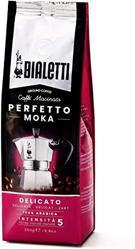Bialetti Perfetto Moka (der perfekte Kaffee für den Moka), Gemahlener Kaffee - DELICATO Geschmack Zart, 250 g