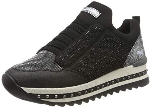 MUSTANG Damen 1347-402-9 Slip On Sneaker, Schwarz (Schwarz 9), 39 EU