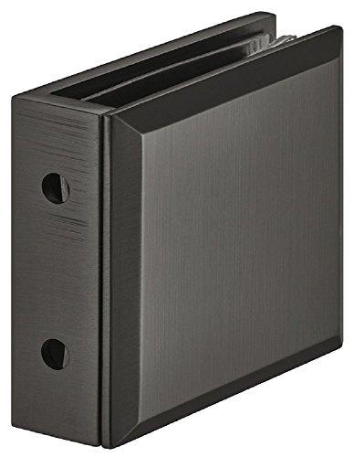 Glashouder 8-12 mm klemhouder voor douches glasklem zwart - H2225 | Glas-punthouder voor wand-glasverbinding | douchecabijnhouder messing zwart | 1 stuk - glasbevestiging voor 90 ° hoek