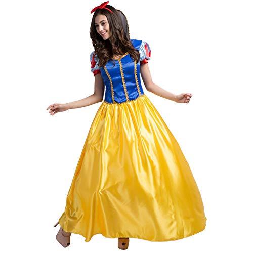 GBYAY Disfraz de Nieve de Talla Grande para Mujer Princesa de Hadas Vestido Largo Halloween Juego de Roles Adulto Femenino