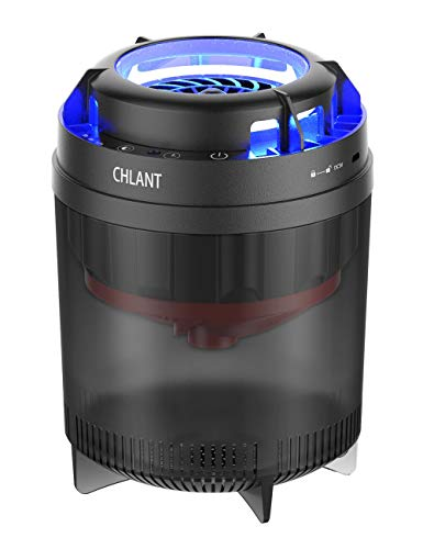 CHLANT Phantom II Fly Trap Mosquito Killer Lamp Indoor Insect Trap Lamp: Bug, Fruit Fly, Gnat,Small Moths, Mosquito Trap - Unique Double Air Duct Design UV Light Insect Killer, Non-Toxic, No Zapper