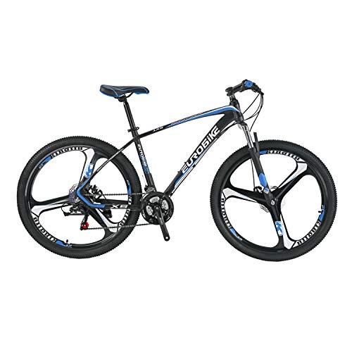 アルミフレーム マウンテンバイク EUROBIKE X5-21段 ハードテイル27.5インチ MTB 前後ディスクブレーキ器 変速21速 超軽量 通勤 学習 自転車