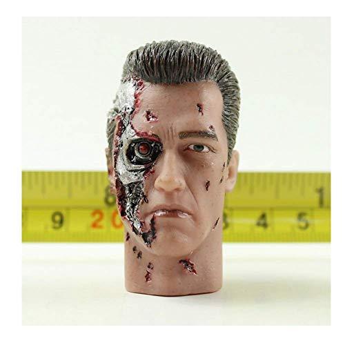 ZSMD 1/6 escala Arno Head Carver Terminator 2 cabezas talladas dragn versin tctica camuflaje adecuado para disfrazarse HT VERYCOOL TTL PHICEN TBLeague (B)