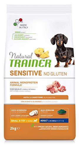 Natural Trainer Sensitive No Gluten - Pienso para Perros Mini-Toy Adult con Cerdo y Cereales Integrales - 2kg 🔥