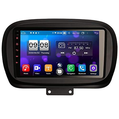 ERISIN 9 pollici Android 10.0 Autoradio Lettore multimediale per Fiat 500X Supporto Carplay Android Auto DSP GPS Navigatore satellitare Bluetooth Wifi 4G DAB + DVB-T / T2 TPMS 8-Core 4GB RAM+64GB ROM