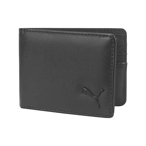 PUMA Herren Men's Athletic Wallet dreiteilige Geldbörse, schwarz, Einheitsgröße