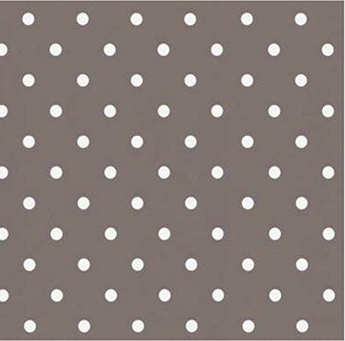 i.stHOME Klebefolie Möbelfolie selbstklebend Punkte Dots Taupe 45 x 200 cm - Dekofolie für Möbel Vintage Retro Look, Selbstklebende Folie - Bastelfolie
