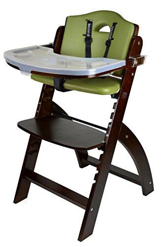 Product Image of the Abiie Beyond Wooden High Chair with Tray. The Perfect Adjustable Baby Highchair...